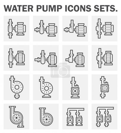 Water pump icons sets....