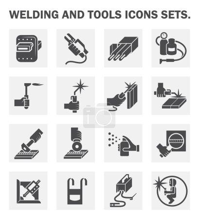 Welding tools icons