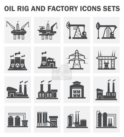 Oil rig and factory