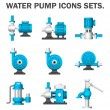 Water pump sets isolated on white background....