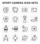 Sport camera and accessory icon sets