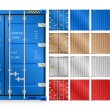 Vector of cargo container isolated on white backgr...