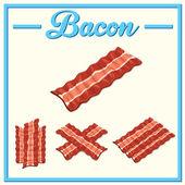 Vector bacon setHand drawn bacon