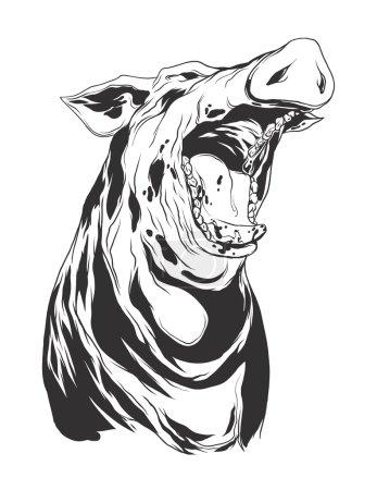 Vector illustration with hog head
