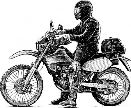person and motorcycle