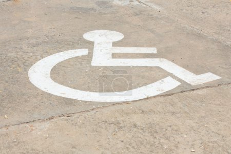 Signs for disabled people
