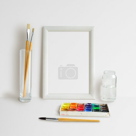 Frame Mock Up with Watercolour