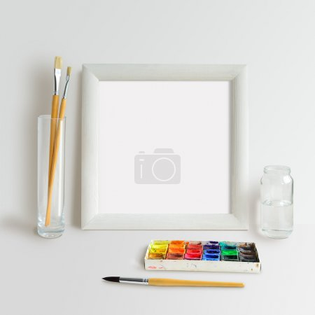 Square Frame Mock Up with Watercolour