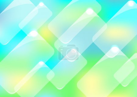 Abstract background with glass panels