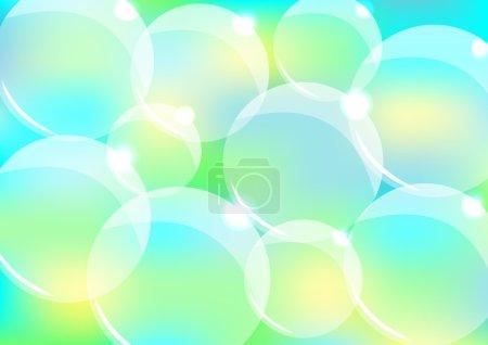 Ilustración de Ilustración de vector con burbujas transparentes para portadas, carteles, tarjetas de felicitación - Imagen libre de derechos