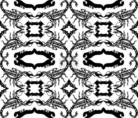 Seamless pattern with scorpions