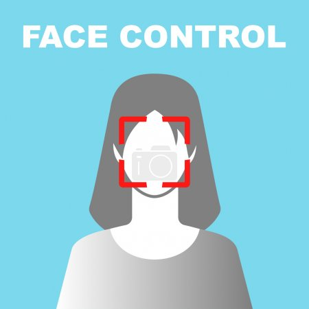 Face Control Icon with Woman