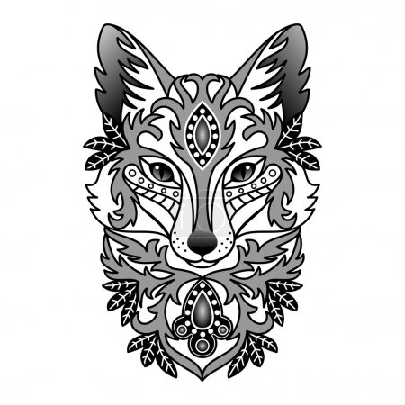 Ornamental Abstract Fox