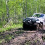 Постер, плакат: Jeep wrangler in Russia