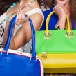 Постер, плакат: Leather handbags isolated