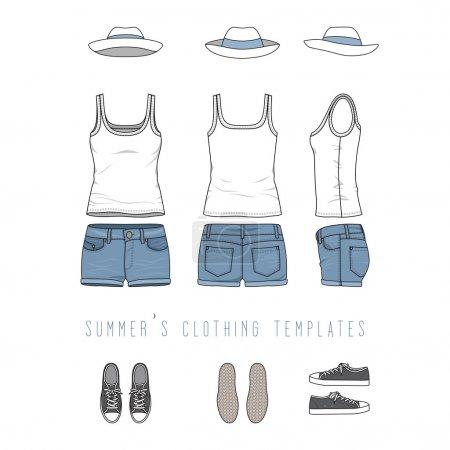 Female clothing set.