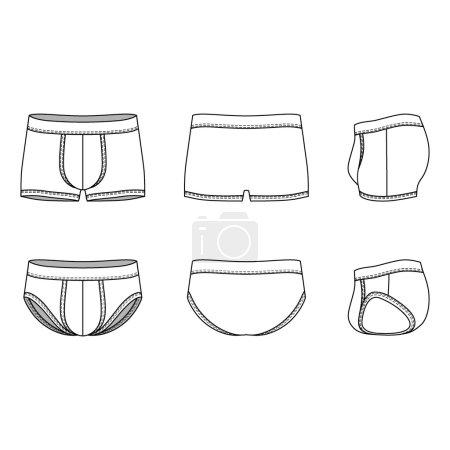 Blank Mens underwear