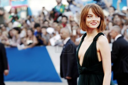 Photo for VENICE, ITALY - AUGUST 27: Actress Emma Stone attends the 'Birdman' premiere during the 71st Venice Film Festival at Palazzo Del Cinema on August 27, 2014 in Venice, Italy. - Royalty Free Image