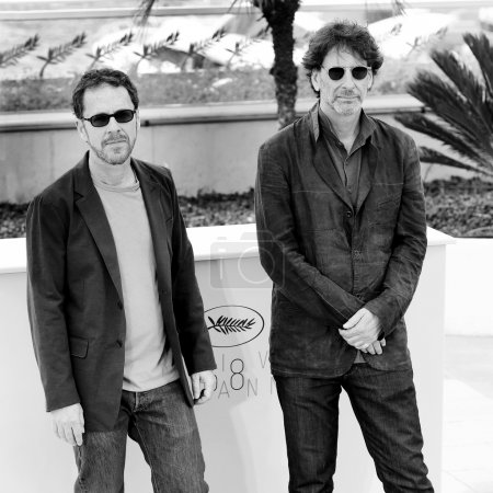 Photo for CANNES, FRANCE- MAY 13: Ethan Coen and Joel Coen attend the Jury photo-call during the 68th Cannes Film Festival on May 13, 2015 in Cannes, France. - Royalty Free Image