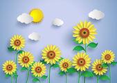 Sun flower pole