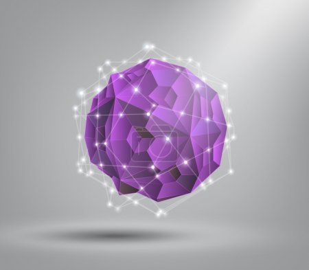 Illustration for Abstract geometric shape from triangular faces , for graphic design - Royalty Free Image