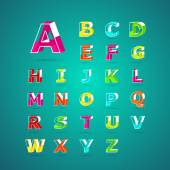 Isometric alphabet fontCapital letter A B C D E F G H I