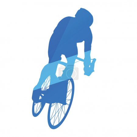 Road bicycle racing, cycling abstract vector silhouette