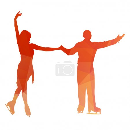 Abstract couple od figure skaters