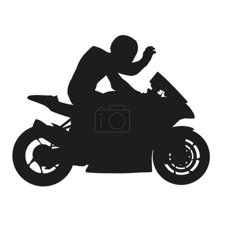 Motorbike rider silhouette