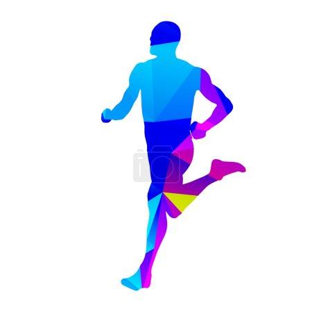Isolated running man