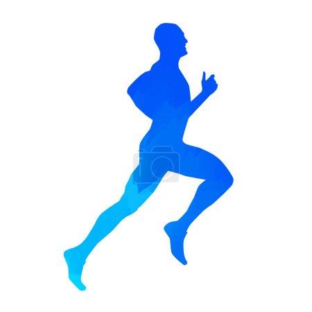 Run. Vector man silhouette