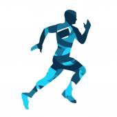 Runner Running man vector silhouette