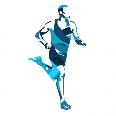 Run. Vector runner, abstract silhouette