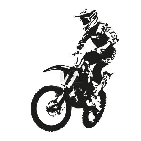 Motocross rider, vector