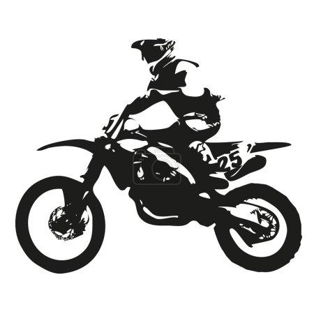 Motocross vector silhouette