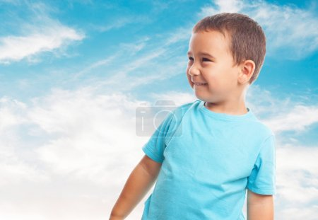 Little boy with happy gesture