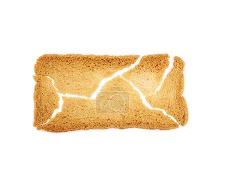 Broken toast bread