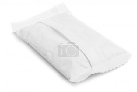 Desiccant bag isolated on white background...