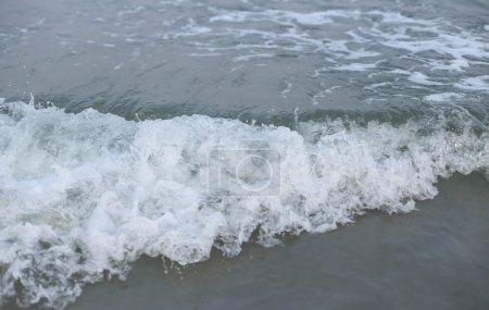 Photo for An ocean seascape wave in closeup surface - Royalty Free Image