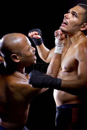 Sparring mma fighters