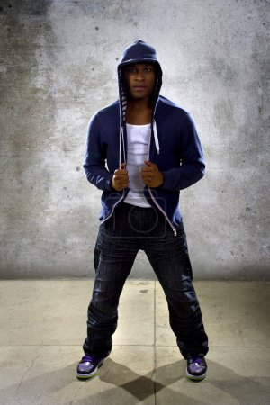 Black male dancing hip hop