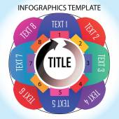 Infographics template with eight things to remember in the cycle