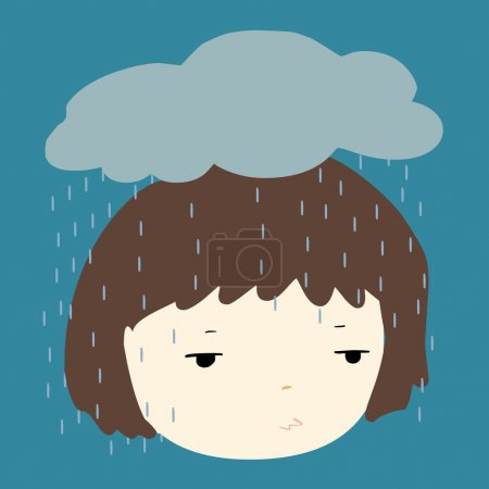 Why does it always rain on me vector illustration...