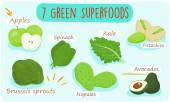 7 green foods you should  be eating  vector