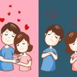 Lover hate and love each other vector illustration...