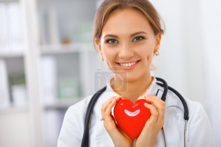 Photo for Portrait of woman doctor standing at hospital - Royalty Free Image