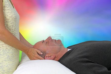Relaxing with a Color Healing Session