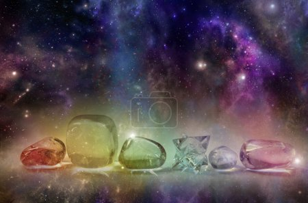 Deep space background with colorful astral clouds,...