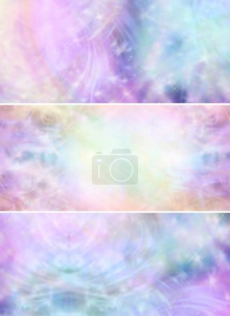 Ethereal magical fairy like background banners
