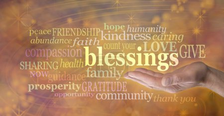 Count Your Blessings Word Cloud